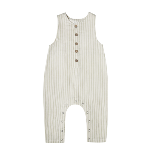 RYLEE AND CRU BUTTON JUMPSUIT IN STRIPE