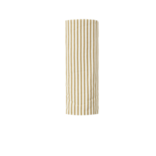 QUINCY MAE ORGANIC BRUSHED JERSEY SWADDLE IN GOLD STRIPE
