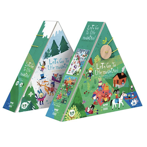 MAGIC FOREST LTD LET'S GO TO THE MOUNTAIN REVERSIBLE PUZZLE - 36 PIECES