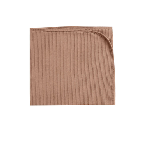 QUINCY MAE RIBBED BABY BLANKET IN TERRACOTTA