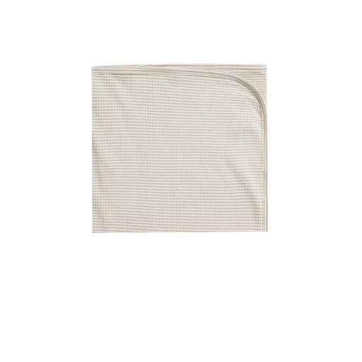 QUINCY MAE RIBBED BABY BLANKET IN ASH STRIPE