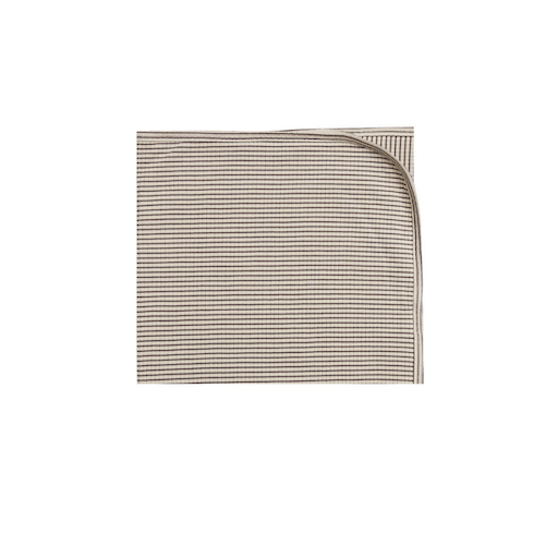 QUINCY MAE RIBBED BABY BLANKET IN CHARCOAL STRIPE