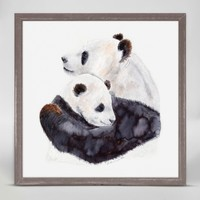 OOPSY DAISY MINI FRAMED MOM AND BABY PANDA 6X6