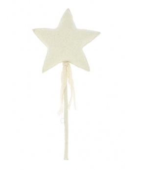 FIONA WALKER FIONA WALKER ENGLAND MAGIC WALL WAND WITH RIBBON AND LACE
