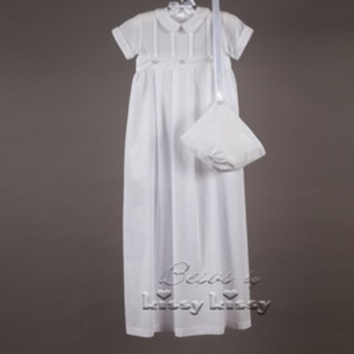 KISSY KISSY XBRAYDEN SHORT SLEEVE CONVERTER GOWN & HAT SET