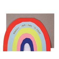 MERI MERI NEON RAINBOW BIRTHDAY CARD