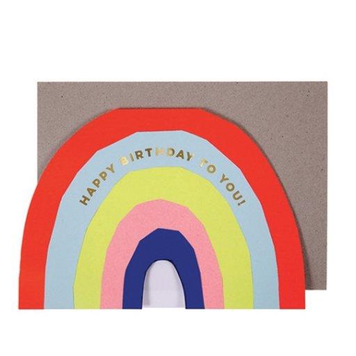 MERI MERI RAINBOW BIRTHDAY CARD