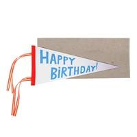 MERI MERI HAPPY BIRTHDAY FLAG GREETING CARD