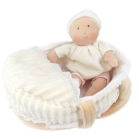 CREATIVE EDUCATION OF CANADA CARRY COT BABY WITH BOTTLE & BLANKET