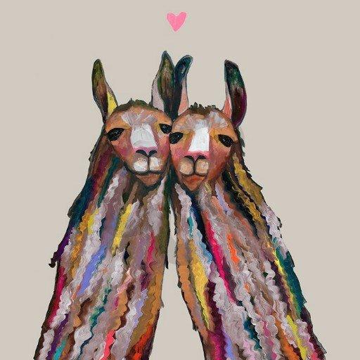 OOPSY DAISY LLAMA LOVE - NEUTRAL 18X18