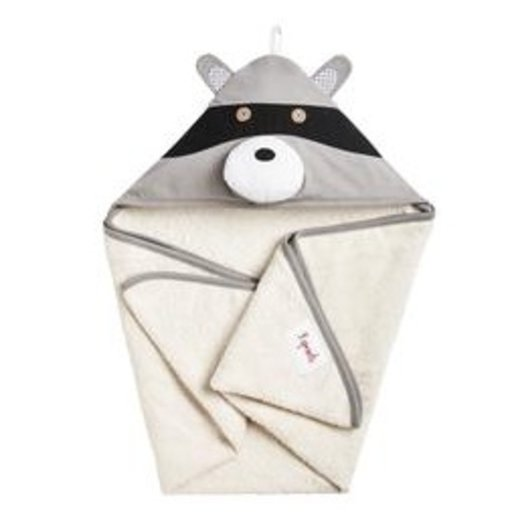 3 SPROUTS 3 SPROUTS RACCOON HOODED TOWEL