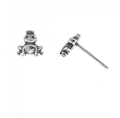 BOMA STERLING SILVER FROG STUD EARRINGS