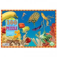 EEBOO SEA FOOD 100 PIECE PUZZLE