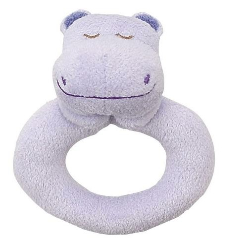 ANGEL DEAR ANGEL DEAR PURPLE HIPPO RING RATTLE