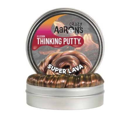 "CRAZY AARON CRAZY AARON'S 4"" SUPER LAVA THINKING PUTTY"
