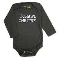 PUNKSTER I CRAWL THE LINE LONG SLEEVE ONESIE
