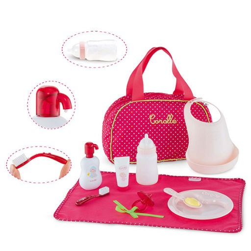 COROLLE LARGE CHERRY BABY ACCESSORIES SET