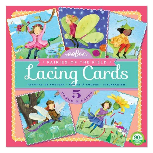 EEBOO FAIRIES OF THE FIELD LACING CARDS