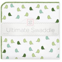 SWADDLE DESIGNS JEWEL TONE LITTLE CHICKIES ULTIMATE RECEIVING BLANKET