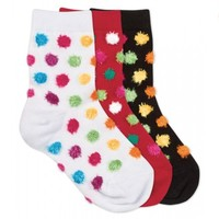 JEFFERIES SOCKS CHENILLE DOT SOCKS