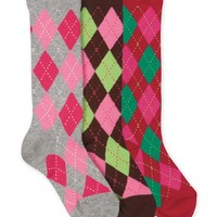 JEFFERIES SOCKS ARGYLE KNEE HIGH SOCK