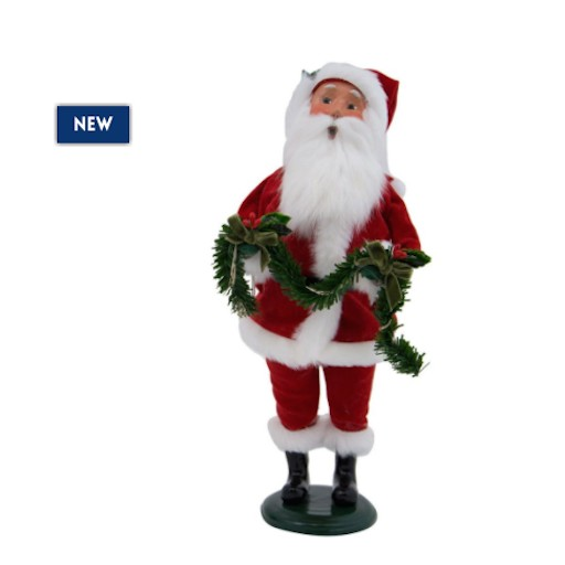 BYERS' CHOICE RED VELVET SANTA DECORATING