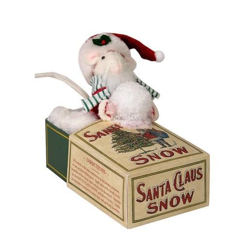 BYERS' CHOICE MOUSE CHRISTMAS SNOW BOX