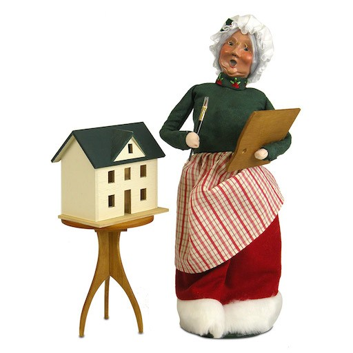 BYERS MRS. CLAUS PAINTING DOLL HOUSE 2PC