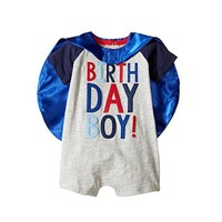 MUD PIE BIRTHDAY BOY CAPE ONE PIECE