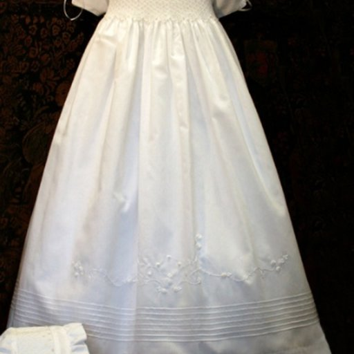 ISABEL GARRETON PEARLS SILK CHRISTENING GOWN
