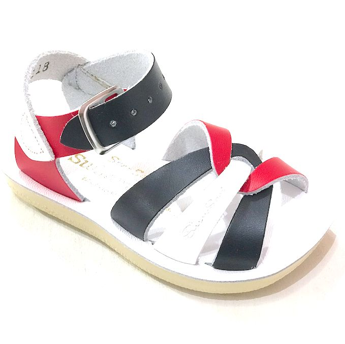 SALT WATER SANDALS SALT WATER RED WHITE & BLUE SWIMMER SANDAL