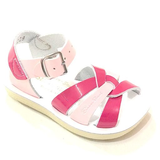 SALT WATER SANDALS SALT WATER SHINY PINK & FUSCHIA SWIMMER SANDAL