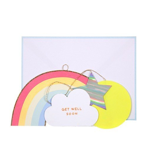MERI MERI GET WELL SOON RAINBOW MOBILE CARD