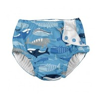 IPLAY INC REUSABLE ABSORBENT SNAP SWIM DIAPER-WHALE LEAGUE