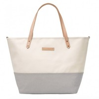 PETUNIA PICKLE BOTTOM PETUNIA PICKLE BOTTOM DOWNTOWN TOTE IN BIRCH/STONE