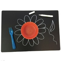 ANNABELLE NOEL CHALKBOARD LARGE PLAIN PLACEMAT SET OF 4
