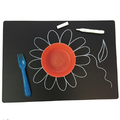 ANNABELLE NOEL CHALKBOARD PLAIN PLACEMAT SET OF 4