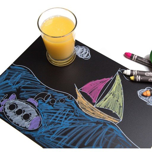 ANNABELLE NOEL CHALKBOARD TRANSPORTATION PLACEMAT SET OF 4