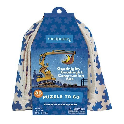 GALISON MUDPUPPY GOODNIGHT GOODNIGHT CONSTRUCTION SITE PUZZLE TO GO