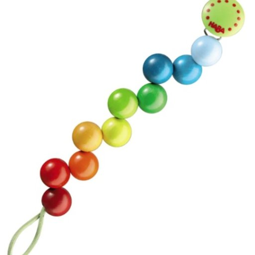 HABA HABA RAINBOW PEARLS PACIFIER CHAIN