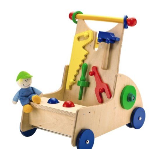 HABA HABA WALK ALONG TOOL CART