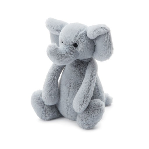 JELLYCAT INC BASHFUL SMALL GREY ELEPHANT 7""