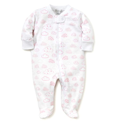 KISSY KISSY CLOUDS PINK PRINT FOOTIE