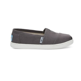 TOMS SHOES ASH CANVAS TOMS YOUTH CLASSICS