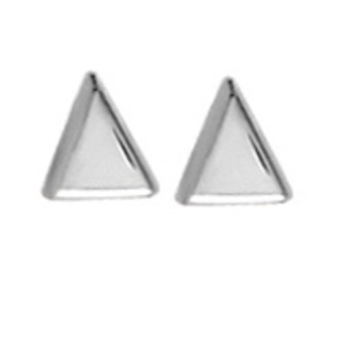 BOMA STERLING SILVER TRIANGLE POST EARRINGS