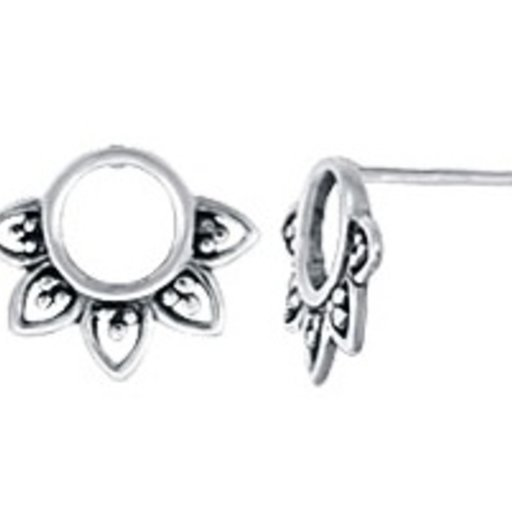 BOMA STERLING SILVER SUNFLOWER STUD EARRINGS