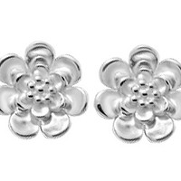 BOMA STERLING SILVER FLOWER STUD EARRINGS