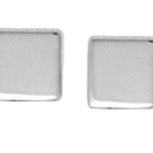 BOMA STERLING SILVER SQUARE STUD EARRINGS