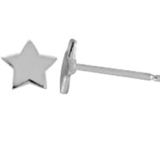 BOMA STERLING SILVER STAR STUD EARRINGS