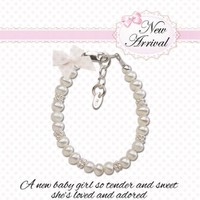 CHERISHED MOMENTS, LLC STERLING SILVER NEW ARRIVAL BABY BRACELET